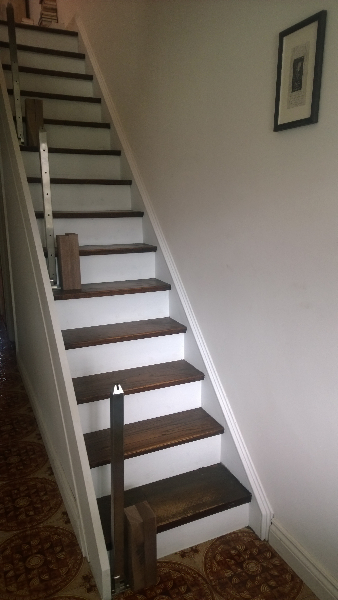 Installing A Modern Railing On A Closed Box Staircase