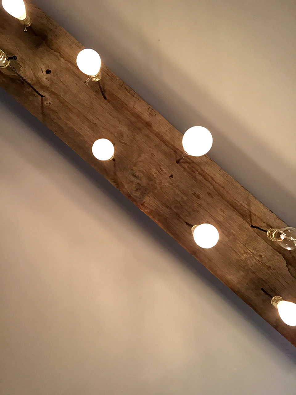 Diy reclaimed lumber hanging edison bulb chandelier unmaintained finished fixture this diy arubaitofo Images