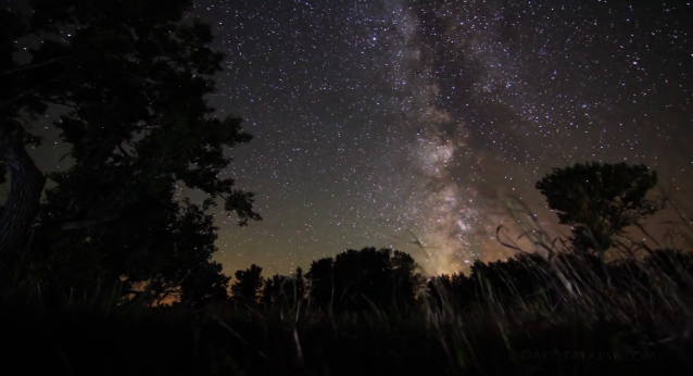 temporal distortion dakota milky way timelapse